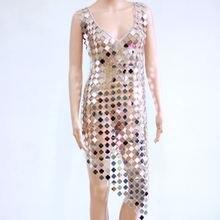 Зеркальное экзотическое Платье До Колена с цепочкой платье без