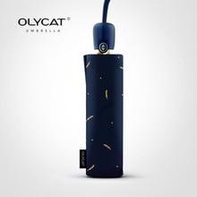 OLYCAT อัตโนมัติร่มฝนผู้หญิง Anti UV ร่มพับหญิงยี่ห้อข้าวสาลีรูปแบบลูกไม้ร่ม Windproof 8 K Parasol