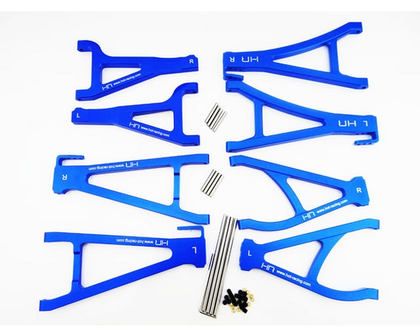 aluminum suspension arm set for the traxxas summit e revo and nitro revo vehicles Hot Racing TRAXXAS Summit E-Revo Aluminum Complete Arm Set