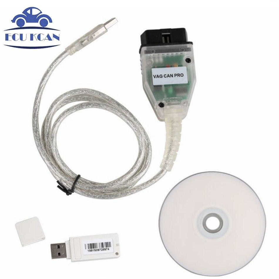 Цена за Vag Может Pro CAN BUS + UDS + k-line SW версия 5.5.1 ПДС сканер OBD 2 автомобиля диагностический Сканер Инструмент лучше, чем VAG 17.1 и ODIS
