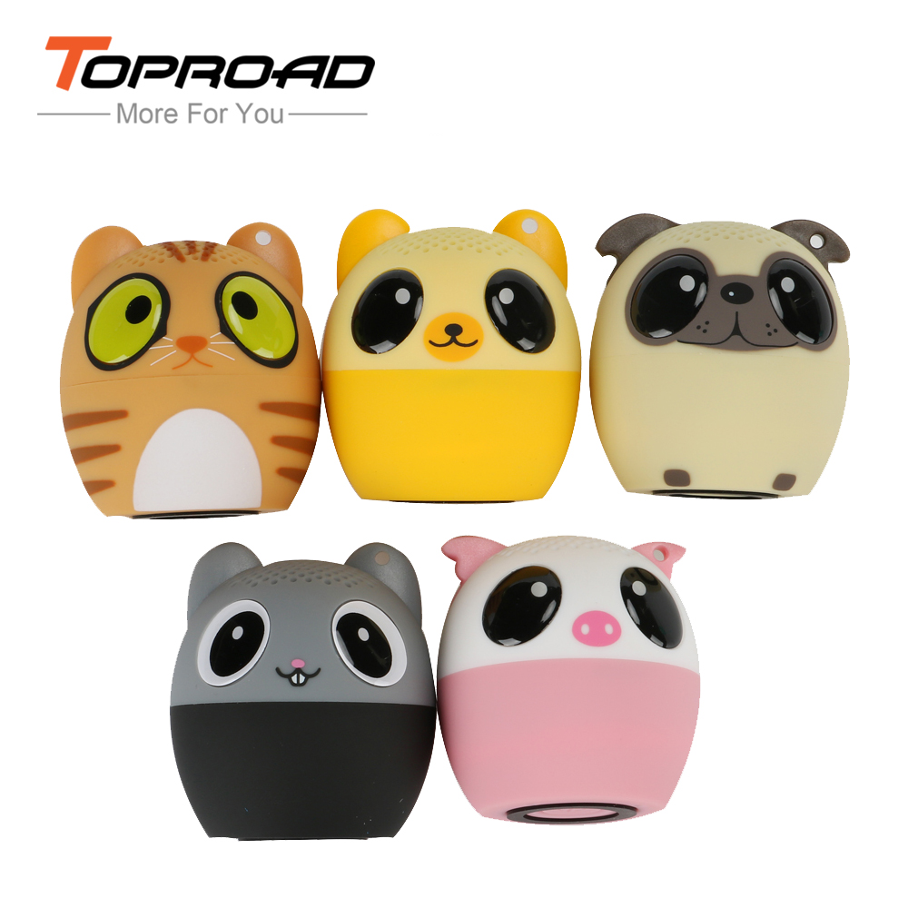 TOPROAD Mini Animal Bluetooth Speaker Portable Cartoon Outdoor Music Player
