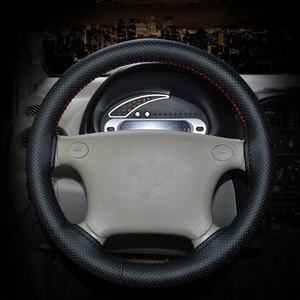Image 5 - DIY Steering Wheel Covers 38cm Soft Artificial Leather Car Braid On steering wheel with Needle and Thread Interior Accessories