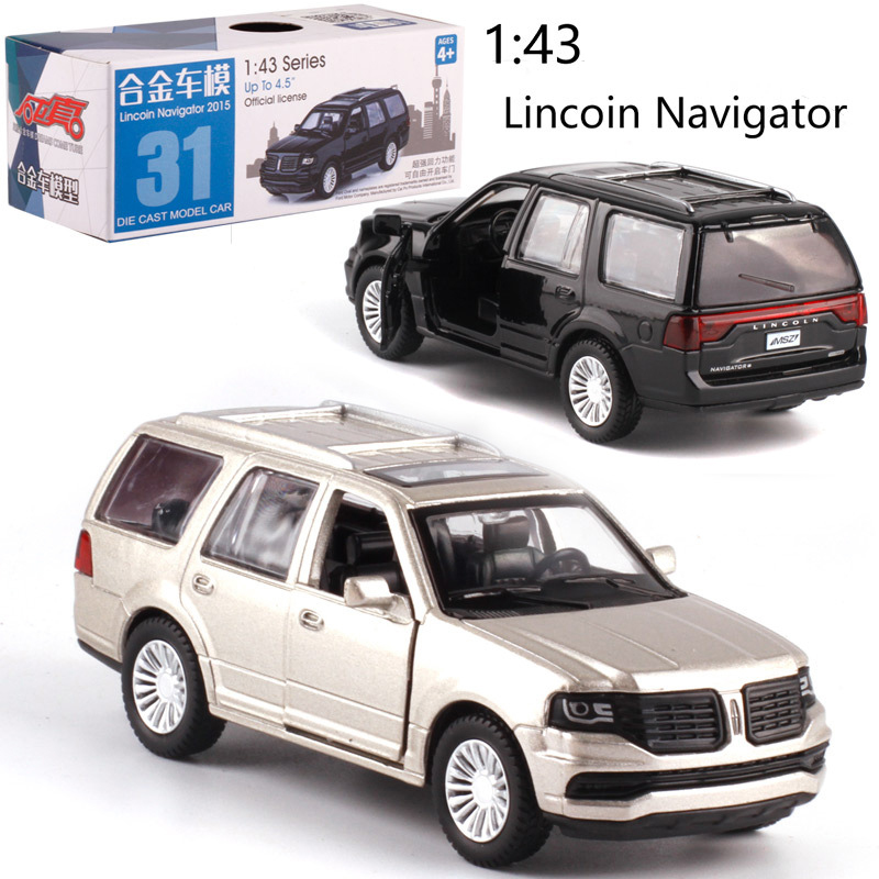 CAIPO 1:46 Lincoln Navigator Alloy Pull-back Vehicle Model Diecast Metal Model Car For Collection Friend Children Gift