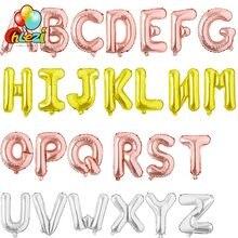 16 pouces or Rose argent A-Z Alphabet lettres Ballons bébé douche fête d'anniversaire fournitures amour mariage décor bricolage feuille Ballons