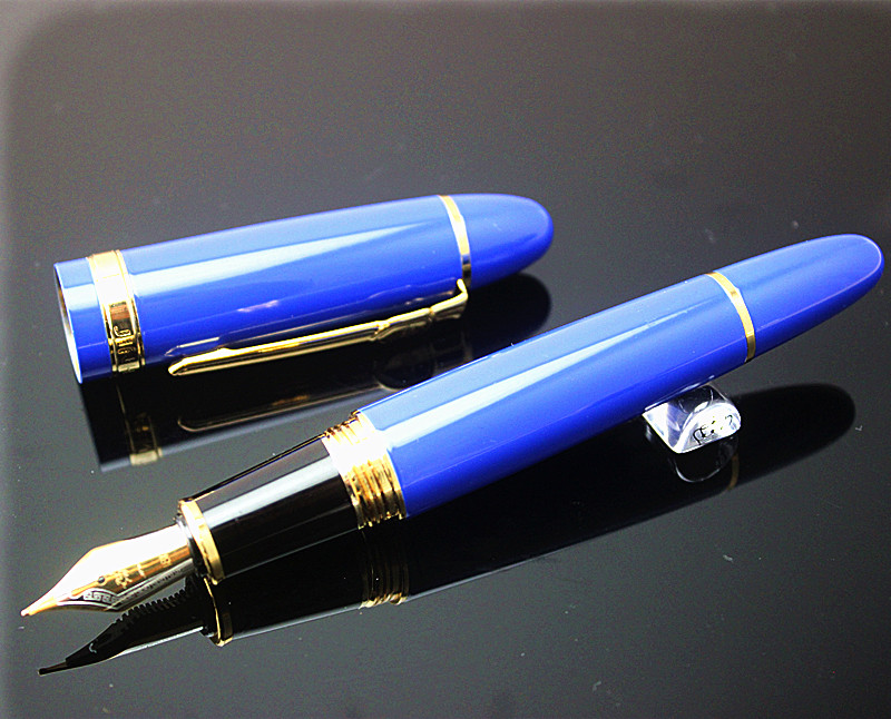 JINHAO 159 18KGP 0.7mm MEDIUM BROAD NIB FOUNTAIN PEN free with a black pen pouch 8 COLORS FOR CHOOSE