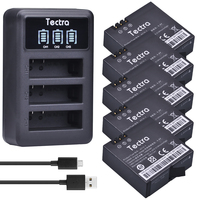 Tectra AZ16 1 5pcs 1400mAh Li Ion Battery For Xiaomi Yi LED USB 3 Slot Charger