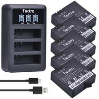 Tectra AZ16 1 5pcs 1400mAh Li ion Battery For xiaomi yi + LED USB 3 Slot Charger For Xiao mi yi 4k 4k+ Action Camera 2