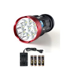 New 20000 lumens LED Flashlight 9x XM-L T6 Hunting Emergency LED 18650 Tactical Flashlight Torch