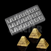 3D Pyramid Shaped Polycarbonate Chocolate Mold Kitchen Bakeware Pc Candy Chocolate Mold Confectionery Pastry Baking Tools