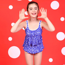 2016 new Cute Child Bikini swimsuit swimwear high waisted bathing suit for kids baby girls Biquini children's swimwear