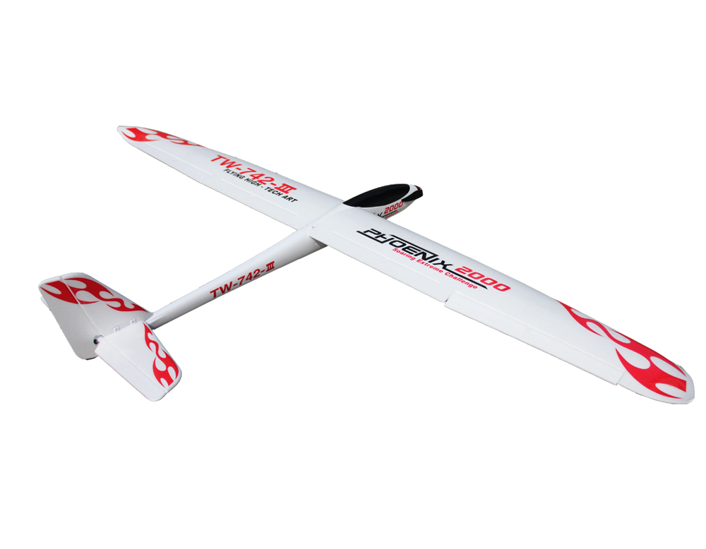 Volantex Phoenix 2000 RC KIT Glider Plane Model W/O Motor Servo 30A ESC Battery phoenix 10948 china southern airlines b 2134 1 400 md 82 commercial jetliners plane model hobby