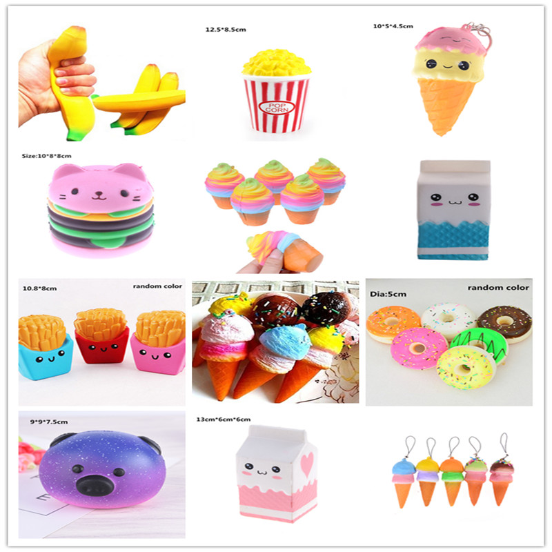 Squeeze Anti-stress Squishy Slow Rising Cream Scented Bread Decompression Toy Stress Reliever Decor Simulated Food Squish Toys 100% Guarantee Toys & Hobbies