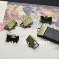 Free shipping!!1000pcs/lot s Bronze Filigree Unplated Crimps Caps/end caps fit 10mm Flat  Leather Cord