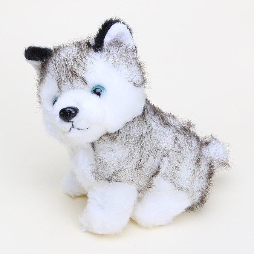 Siberian Husky Dog Plush Toy Dog Soft Stuffed Toy Husky Doll birthday Gift B-W