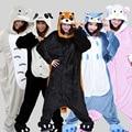 Kengurumi Unicorn Stitch Jirafa Unisex Pijamas Adultos Cosplay Animal de la Historieta Onesies Pijamas Sudaderas Con Capucha Para Las Mujeres Hombres Niños