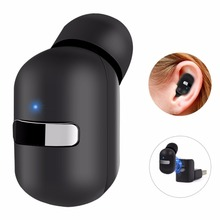 GDLYL Bluetooth Headset Mini Portable Wireless Bluetooth earphone Magnetic Suction Charge Invisible Earbuds Headphones