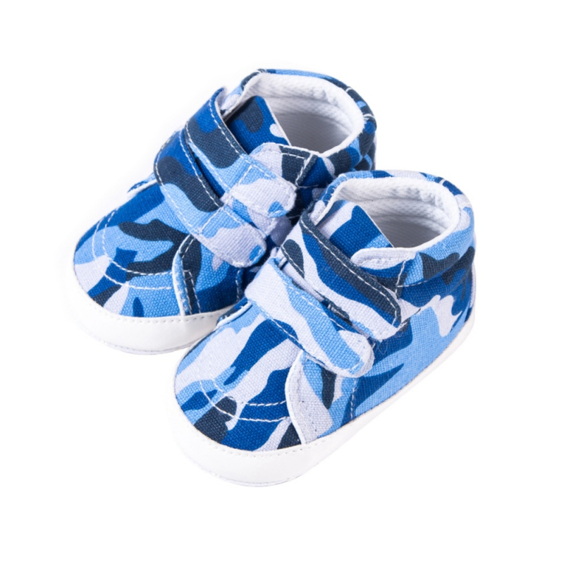 Baby Shoes Fashion Camouflage Style Double Paste Soft Sole Baby Toddler Shoes Canvas Anti-slip Multi Color Footwear For Newborn