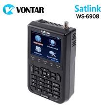 """[Auténtica] Satlink WS-6908 3.5 """"DVB-S FTA digital vía satélite metros buscador de satélites ws 6908 satlink ws6908 mejor que 6906"""