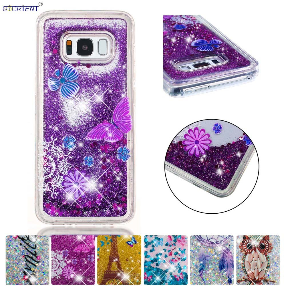 Fitted Case For Samsung Galaxy S8 Bling Glitter Dynamic Quicksand Liquid Soft Silicone Cover Sm-g950f Sm-g950f/ds Phone Funda Phone Bags & Cases