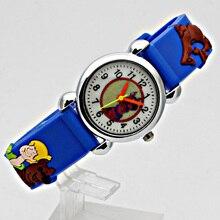 ot 2017 New Fashion 3D Cartoon New pattern Child Watch Velcro Kids Quartz Sport Watch Boys Wristwatch Relojes Relogios