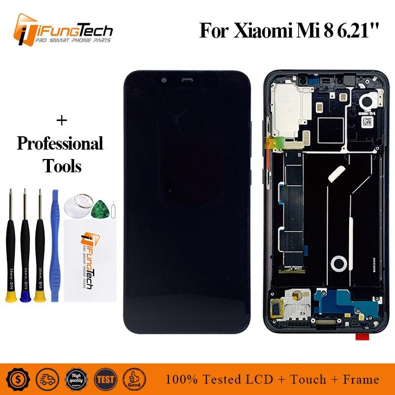 Écran LCD Super Amoled pour Xiao mi mi 8 LCD écran tactile numériseur remplacement pour Xiao mi 8 LCD mi 8 LCD avec cadre