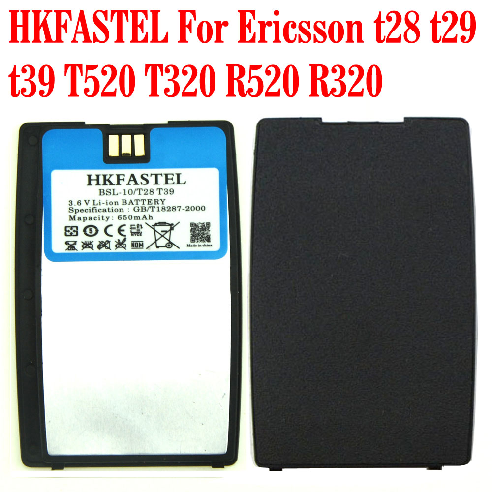 HKFASTEL Neue Hohe Qualität BSL-10 Li-Ion Handy Akku Für Ericsson t28 t29 t39 T520 T320 R520 R320 batterien 650 mAh