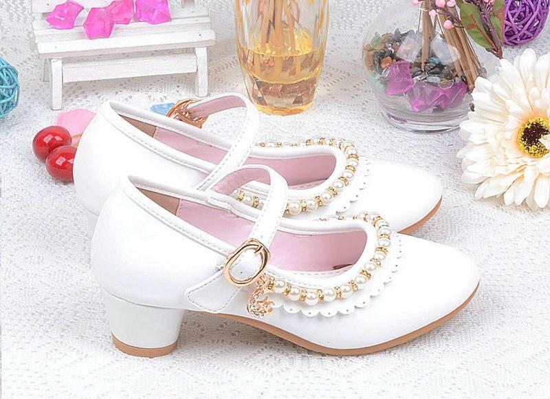 Mooie kinderen kinderen meisjes parel leren schoenen prinses sandalen - Kinderschoenen - Foto 6