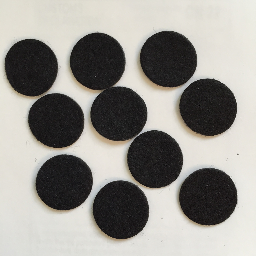 1000pieces/lot 30mm BLACK Padded Felt round shape craft/ DIY Appliques Clothing decoration Scrapbook A155*10
