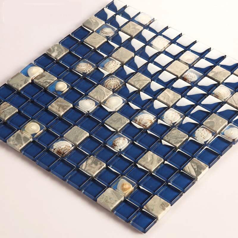 Baldosas de vidrio protector contra salpicaduras cocina Shell del ...