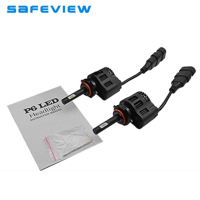 LED H4 Super Bright Led car Headlight kits  H4 P6 25W single beam 9005 HB3 9006 HB4 led lamp DC11V-30V bulbs with cooling fan