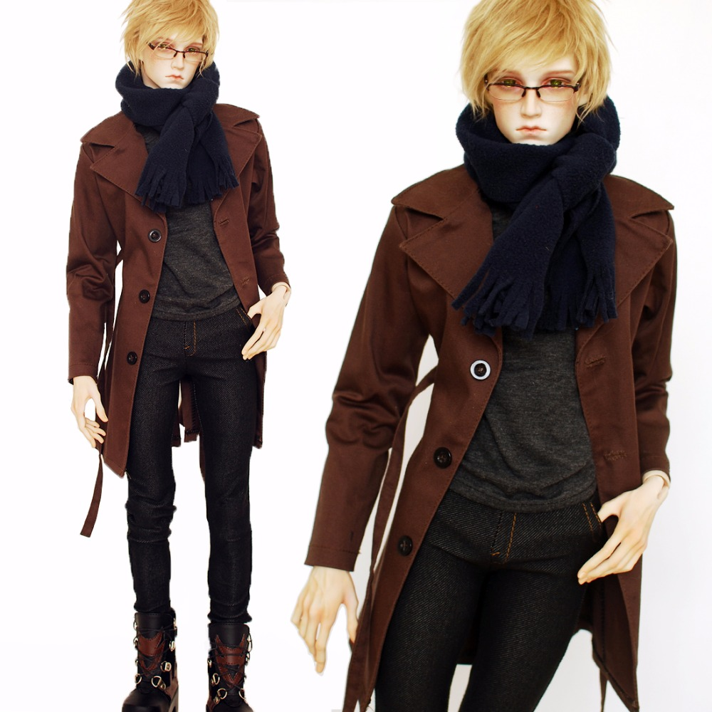 Cataleya <font><b>BJD</b></font> <font><b>SD</b></font> <font><b>clothes</b></font> Long single-breasted trench coat with a belt design is even more cool inside is a sleeveless turtleneck image