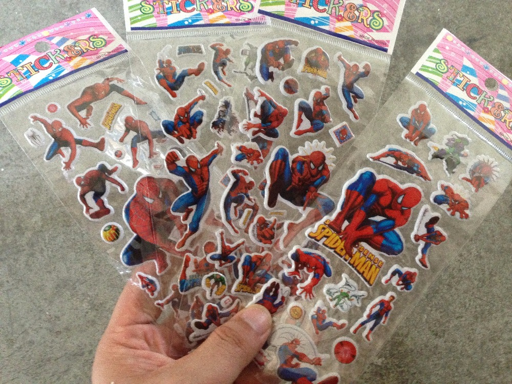 100 Sheets/lot Children Cartoon Kids Stickers Toys Puffy Pattern Teacher Lovely Reward Stickers For Children Adesivo Kids