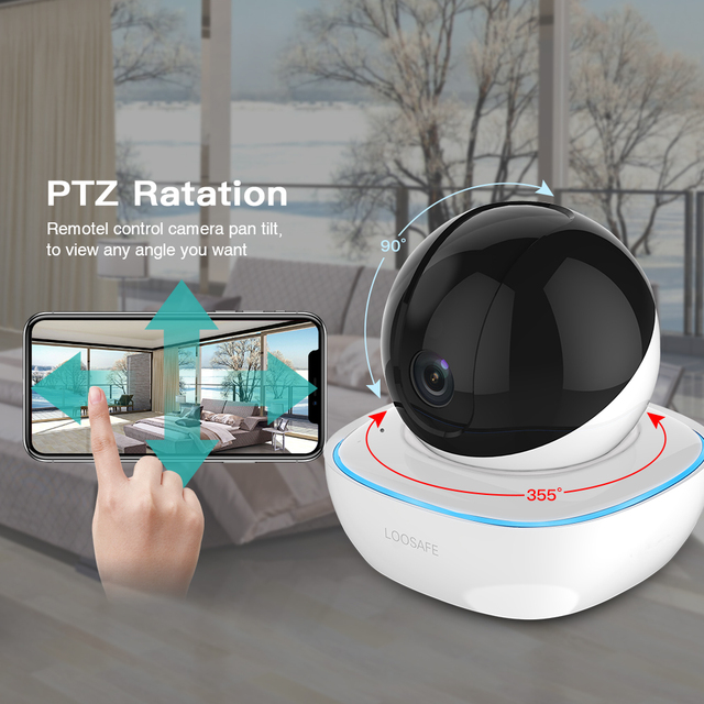 LOOSAFE HD Security IP Camera Wi-Fi 1080P Wireless Home Security Surveillance Alarm  Night Vision P2P CCTV Camera Baby Monitor
