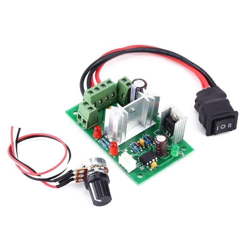 CCM6N 6V 12V 24V 30V Reversing Switch Adjustable DC Motor Speed Controller PWM zga37ree 37mm miniature dc gear motor adjustable speed motor reversing 12v 24v 5rpm 350rpm