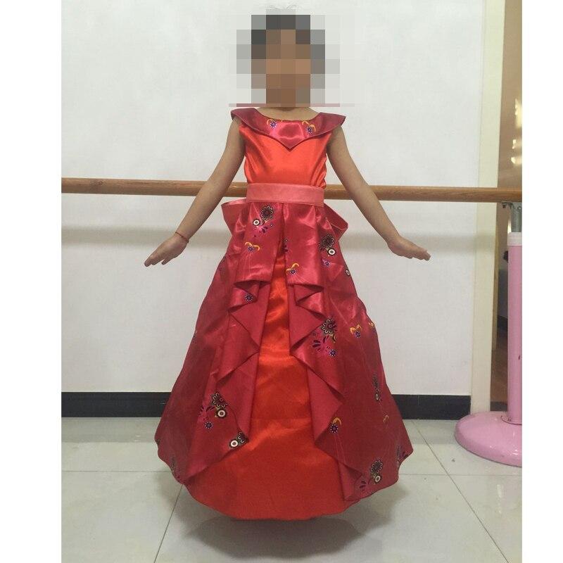 Child Girl's Latina Princess Elena Dress Cosplay Costume From TV Elena Of Avalor Halloween Carnival Party Costume Custom
