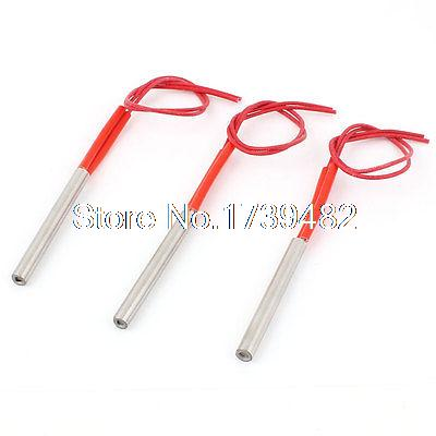 220V 250W 2-Wire Industry Mold Cartridge Heater Heating Element 8mm x 60mm 3Pcs