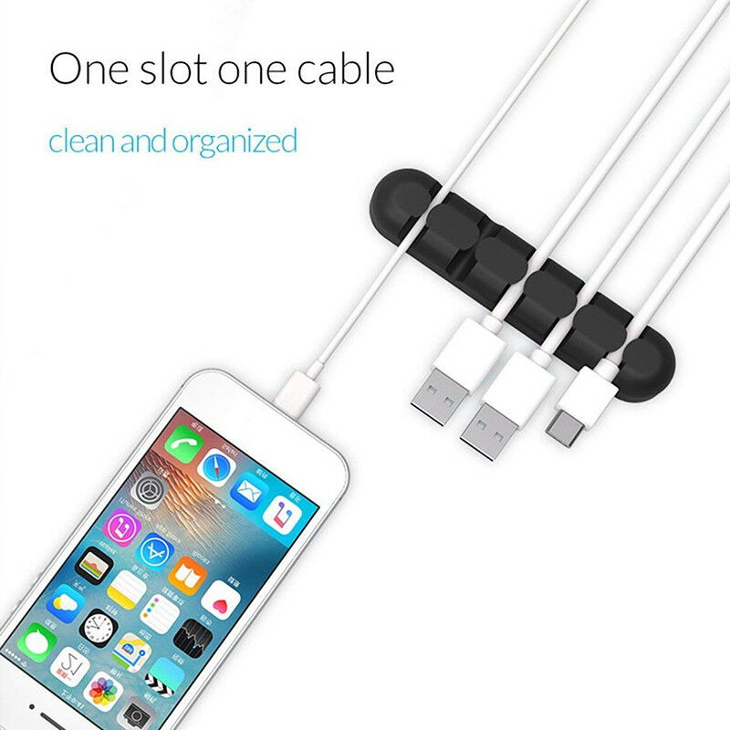 Desktop Cable Wires Manager Silicone Wire Holder Data Cables Storage Winder