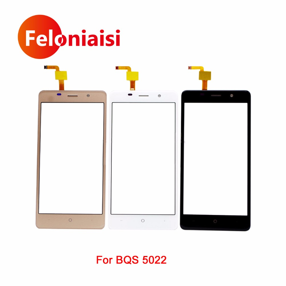 High Quality 5.0 For BQS 5022 Touch Screen Digitizer Sensor Outer Glass Lens Panel Black White Gold+Tracking Code