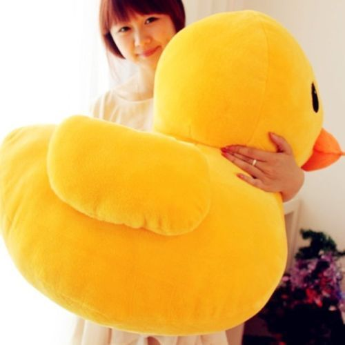 Very Nice Soft 50cm Giant Yellow Duck Stuffed Animal Plush Soft Toys Cute Doll Pillow