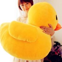 Very Nice Soft 50cm Giant Yellow Duck Stuffed Animal Plush Soft Toys Cute Doll Pillow
