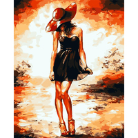 Home Decoration 40x50cm Beauty Picture Paint On Canvas DIY Digital Oil Painting Paint By Numbers Drawing