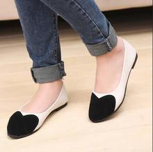 New fashion season spell color shoes flat pointed shoes fashion  Women Solid Casual Ladies Shoes