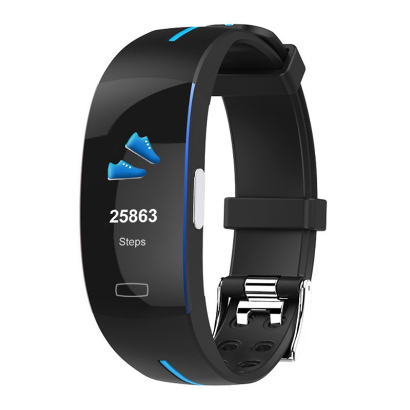 P3Plus bracelet intelligent Ecg + Ppg mesure dynamique moniteur de fréquence cardiaque Usb Charge Fitness Tracker écran couleur montre intelligente Ban