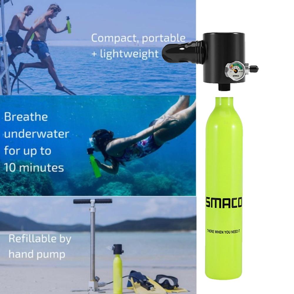 2019 New Mini Scuba Diving Oxygen Tank Underwater Snorkel Respirator Breathing Air Valve Bottle Adult Swimming Diving Equipment