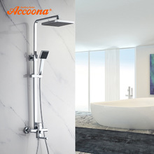 Bath Shower Faucet Accoona Multiple-Control-Faucets Contemporary Single-Handle Water