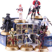 FGO Fate Grand Order Gilgamesh Saber Scathach Mash Kyrielight Medb Merlin Figure Action PVC Collectible Model Toy 8pcs/set