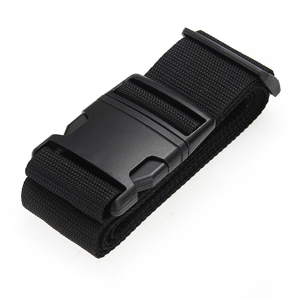 SCYL Luggage belt strap Belt Cord Rope Black for Suitcase Travel Bag 2M wrap skinny rope belt