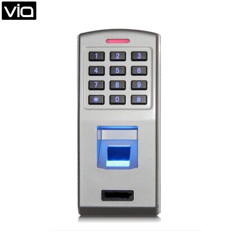 F3 Free Shipping IP 65 Metal Biometric Fingerprint Keyboard Standalone Access Control Wiegand 26 Bits Output wiegand 26 input