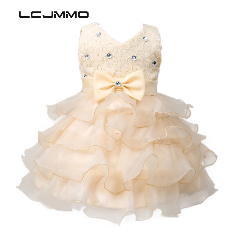 LCJMMO New 2017 Princess Flower Girl Dress Summer Tutu Wedding Birthday Party Dresses For Girls Children's Costume Prom Clothes blue&pink white princess girl tutu dress children girls wedding birthday photo party costume tutu summer clothes for girl 2 14y