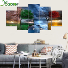 YOGOTOP DIY Diamond Painting Cross Stitch Kits Full Diamond Embroidery 5D Diamond Mosaic Needlework Four seasons tree 5pcs ML168 yogotop diy diamond painting cross stitch kits full diamond embroidery 5d diamond mosaic needlework muslim 5pcs ml167